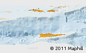 Political Shades Panoramic Map of Virgin Islands, lighten