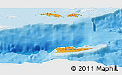 Political Shades Panoramic Map of Virgin Islands, single color outside