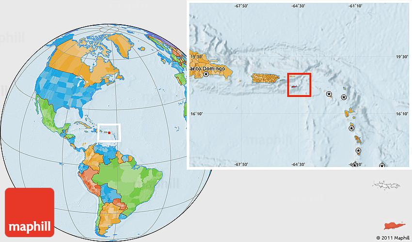 Political Location Map Of Saint Croix