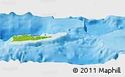 Physical Panoramic Map of Saint Croix