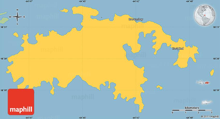 Savanna Style Simple Map of Saint John