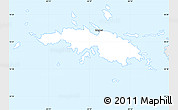 Silver Style Simple Map of Saint Thomas