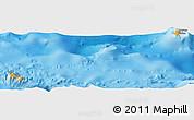 Political Shades Panoramic Map of Wallis and Futuna