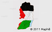 Flag 3D Map of West Bank
