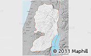 Gray 3D Map of West Bank