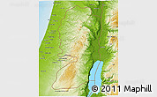 Physical 3D Map of West Bank