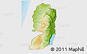 Physical 3D Map of West Bank, single color outside, bathymetry sea, shaded relief sea