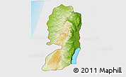 Physical 3D Map of West Bank, single color outside
