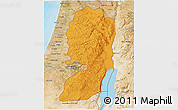 Political Shades 3D Map of West Bank, satellite outside, bathymetry sea