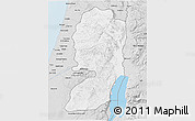 Silver Style 3D Map of West Bank