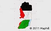 Flag Map of West Bank