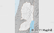 Gray Map of West Bank