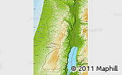 Physical Map of West Bank