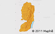 Political Map of West Bank, cropped outside