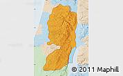 Political Map of West Bank, lighten