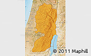 Political Map of West Bank, satellite outside, bathymetry sea