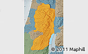 Political Map of West Bank, semi-desaturated