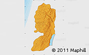 Political Map of West Bank, single color outside