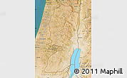 Satellite Map of West Bank