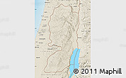 Shaded Relief Map of West Bank