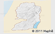 Classic Style Panoramic Map of West Bank, single color outside