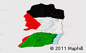 Flag Panoramic Map of West Bank