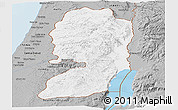 Gray Panoramic Map of West Bank