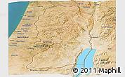 Satellite Panoramic Map of West Bank