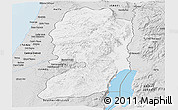 Silver Style Panoramic Map of West Bank