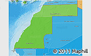 Political Shades 3D Map of Western Sahara