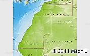 Physical Map of Western Sahara
