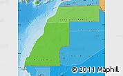 Political Shades Map of Western Sahara