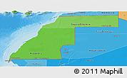 Political Shades Panoramic Map of Western Sahara