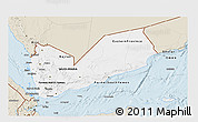 Classic Style 3D Map of Yemen