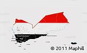 Flag 3D Map of Yemen