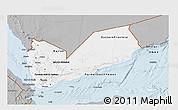 Gray 3D Map of Yemen