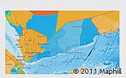 Political 3D Map of Yemen