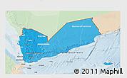 Political Shades 3D Map of Yemen, lighten