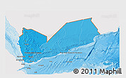 Political Shades 3D Map of Yemen, single color outside