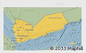 Savanna Style 3D Map of Yemen