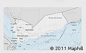 Silver Style 3D Map of Yemen