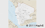 Classic Style 3D Map of Former North Yemen