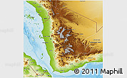 Physical 3D Map of Former North Yemen