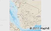 Shaded Relief 3D Map of Former North Yemen
