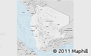 Silver Style 3D Map of Former North Yemen