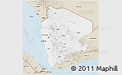 Classic Style 3D Map of North Yemen (1)
