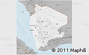 Gray 3D Map of North Yemen (1)