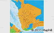 Political 3D Map of North Yemen (1)