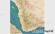 Satellite 3D Map of North Yemen (1)