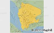 Savanna Style 3D Map of North Yemen (1)